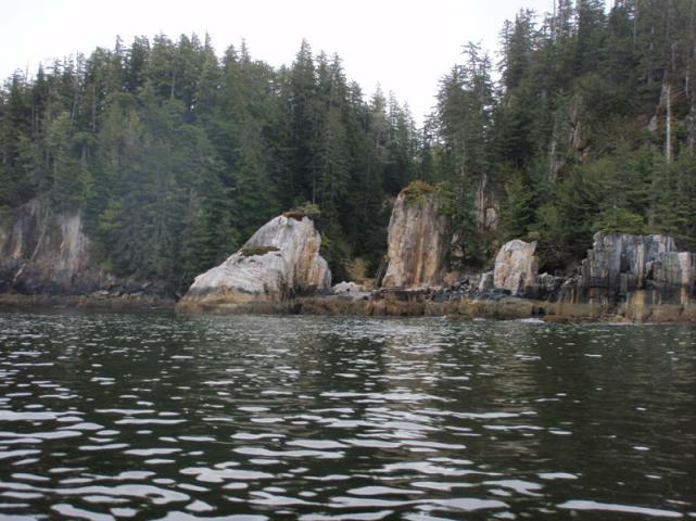 Indian Head Rock, Outside Work Channel, BC
